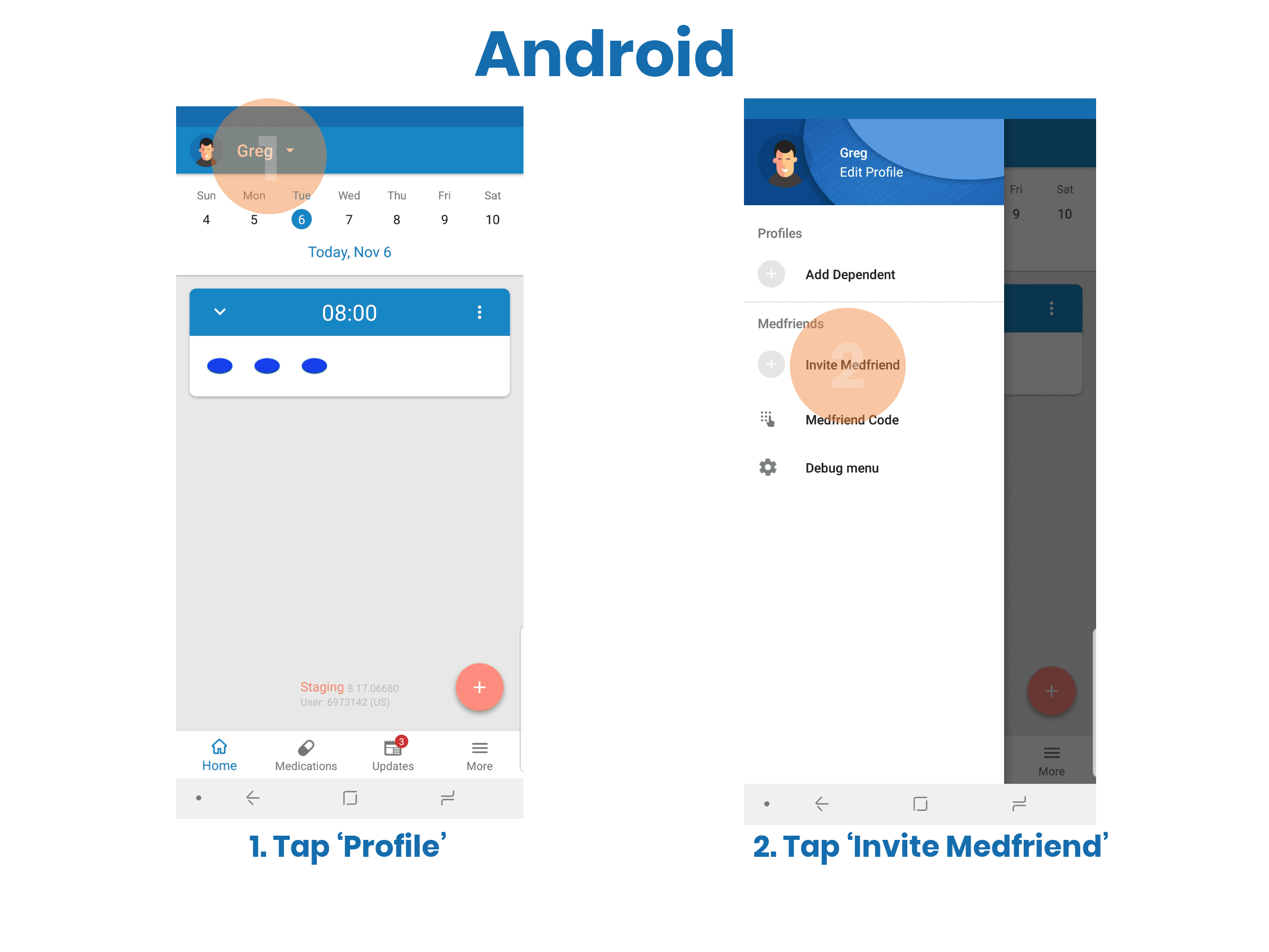 Easily Add a Medfriend to Help Stay on Track